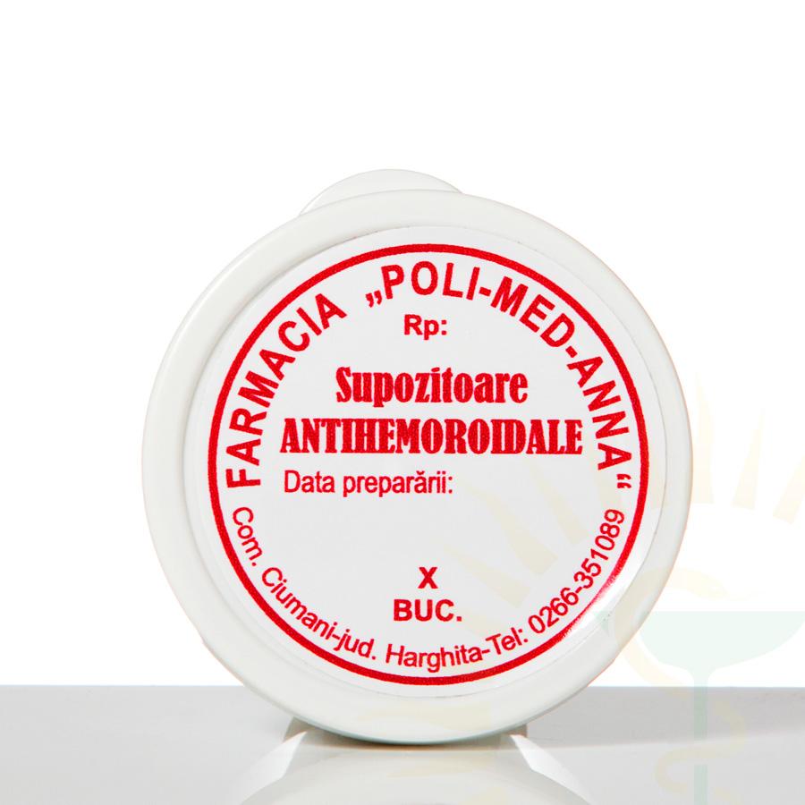 Supozitoare antihemoroidale - Farmacia Poli Med-Anna